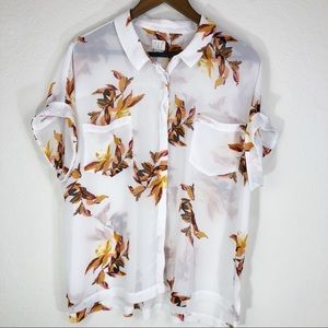 A New Day Fall Floral Blouse XXL